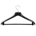 Вешалка-плечики универсальная, пластиковая, р. 46-48, длина 42 см, ширина 3,0 см, цвет черный