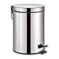 Ведро-контейнер для мусора с педалью ЛАЙМА, 5 л, «Classic», зеркальное, нержавеющая сталь