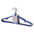 Вешалки-плечики ЛАЙМА «Стандарт», комплект 10 шт., металл/ПВХ, 45 см, цвет синий
