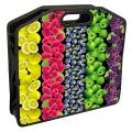 Cумка пластиковая BRAUBERG (БРАУБЕРГ), A4, на молнии, «Fruits», цветная печать, для девочек, 37-30 см