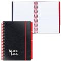 Тетрадь-блокнот A5, 150 л., BRAUBERG (БРАУБЕРГ), клетка, обл. на резинке, «Black Jack» («Блэк Джек»)