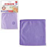 Салфетка для стекол, зеркал ЛАЙМА «Гладь», микрофибра, 30-30 см, фиолетовая
