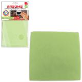 Салфетка для оптики, мебели ЛАЙМА «Замша», микрофибра, 30-30 см, зеленая