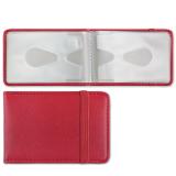 Визитница/кредитница однорядная BRAUBERG «Iguana» (БРАУБЕРГ «Игуана») на 24 карты, «кожа змеи», застежка, красная