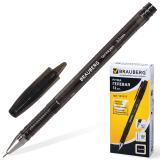 Ручка гелевая BRAUBERG Income, корпус тонированный, игольч. узел 0,5мм, линия 0,35мм, черная, 141517
