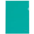 Папка-уголок BRAUBERG (БРАУБЕРГ), зеленая, 0,10 мм