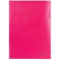 Папка-уголок BRAUBERG (БРАУБЕРГ), красная 0,10 мм