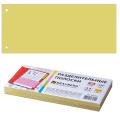 Разделители документов для папок картонные BRAUBERG (БРАУБЕРГ), комплект 100 шт., «Полосы желтые», 240-105 мм, 180 г/м