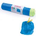 Мешки для мусора, 60 л, ЛАЙМА, комплект 20 шт., рулон, ПНД, прочные, с завязками, 60-70 см, 12 мкм, синие