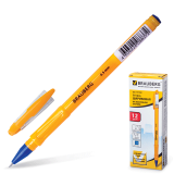 Ручка шариковая масляная BRAUBERG Oil Sharp, корпус оранжевый, 0,7мм, линия 0,3мм, синяя, 141532