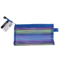 """Папка-конверт на молнии BRAUBERG """"Stripes"""", 255*130мм, сетчатая ткань, 224048"""