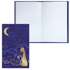 Блокнот BRAUBERG (БРАУБЕРГ), А5, 135-206 мм, 80 л., «City Cat» («Городская кошка»), твердая ламинированная обложка, фольга, клетка