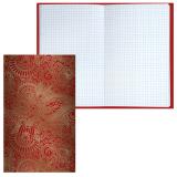 Блокнот BRAUBERG (БРАУБЕРГ), А5, 135-206 мм, 80 л., «Paisley» («Восточный узор»), твердая ламинированная обложка, фольга, клетка