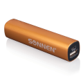 Аккумулятор внешний универсальный SONNEN PB-2200, емкость 2200 мАч, выходной ток 1А, золотистый