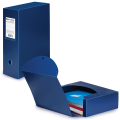 Короб архивный BRAUBERG «Energy» (БРАУБЕРГ «Энерджи»), пластик, 10 см, на 900 л., разборный, синий, 0,9 мм