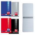 Блокнот BRAUBERG (БРАУБЕРГ), А6, 108-145 мм, 48 л. «INDAY» («Рабочий день»), гребень, обложка мелованный картон, клетка (4 вида)