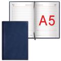 Ежедневник BRAUBERG недатированный, А5, 138-213 мм, «Forte» («Форте»), «перламутровая кожа», 160 л., синий