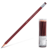 Карандаш чернографитный KOH-I-NOOR, HB, корпус коричневый, трехгранный, с резинкой, заточенный