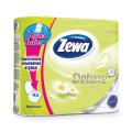 Бумага туалетная быт., спайка 4 шт., 3-х слойная (4х19 м), ZEWA Delux, аромат ромашки,3275,ш/к 60133