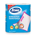 Полотенца бумажные быт., спайка 2 шт., 2-х слойные, (2х13,5 м), ZEWA Decor, белые, 144087, ш/к 64610