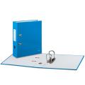 Папка-регистратор LEITZ «WOW», механизм 180°, ламинированная, 80 мм, голубая