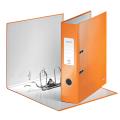 """Папка-регистратор LEITZ """"WOW"""", механизм 180°, с покрытием из полипропилена, 80мм, оранжевая, 1005004"""