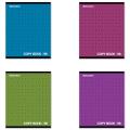 Тетрадь 96 л. BRAUBERG «Pro» (БРАУБЕРГ «Про»), офсет 60 г/м, клетка, обложка мелованный картон, «Монохром2», 4 вида