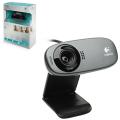 Веб-камера LOGITECH C310, 5 Мпикс., микрофон, USB 2.0, черная, регулируемый крепеж