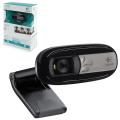 Веб-камера LOGITECH C170, 0,3 Мпикс., микрофон, USB 2.0, регулируемый крепеж, черная