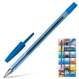 Ручка шариковая BEIFA (Бэйфа) 927, корпус тонированный синий, узел 0,7мм, линия 0,5мм, синяя, AA927-BL