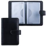 Визитница/кредитница однорядная GALANT «Ritter» на 24 карты, «гладкая кожа», застежка, черная