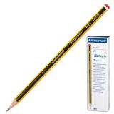 Карандаш чернографитный STAEDTLER (ШТЕДЛЕР, Германия) «Noris», НB, корпус черно-желтый, без резинки, заточенный