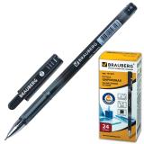 Ручка шариковая масляная BRAUBERG Profi-Oil, корпус с печатью, 0,7мм, линия 0,35мм, черная, 141633