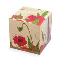 Блок для записей «Хатбер» в картонном боксе, куб 9-9х9 см, белый, «Red on White»
