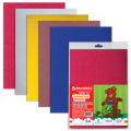 Цветная пористая резина (фоамиран) для творчества А4, толщина 2мм, BRAUBERG 5л.5цв, плюшевая фактура