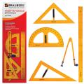 Набор чертежный  для классной доски (2 треуг, транспортир, циркуль, линейка 100см), BRAUBERG, 210383