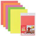 Цветная пористая резина (фоамиран) для творчества А4, толщина 2мм, BRAUBERG 5л. 5цв, неоновая