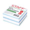 Блок для записей STAFF непроклеенный, куб 9*9*5 см, цветной, чередование с белым, 126365