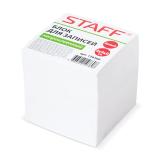 Блок для записей STAFF непроклеенный, куб 9*9*9 см, белый, белизна 90-92%, 126366