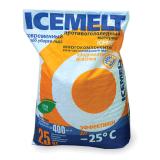 Реагент антигололедный 25кг ICEMELT, до -25С, кальций+натрий модифицированный, мешок, ш/к 10029