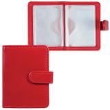 Визитница/кредитница однорядная GALANT «Ritter» на 24 карты, «гладкая кожа», застежка, бордовая