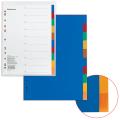 Разделитель пластиковый ERICH KRAUSE «Divider colored» для папок А4, по цветам, 10 цветов, с оглавлением