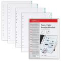 Папки-файлы перфорированные A4 ERICH KRAUSE, КОМПЛЕКТ 100шт.,гладкие,с цветной полоской,0,03мм,30631