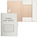 Папка для бумаг с завязками картонная БЮДЖЕТ, гарантированная плотность 220 г/м, до 200 листов