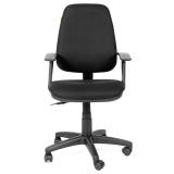 Кресло оператора СН 661 с подлокотниками, черное 15-21, ш/к 48176