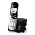 Радиотелефон PANASONIC KX-TG6811RUB, память 50 номеров, АОН, повтор, спикерфн, полифония, 10-100 м, чёрный