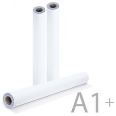 Рулон для плоттера и инженерных машин BRAUBERG (БРАУБЕРГ), А1+, 610 мм х 50 м х втулка 50 мм х диаметр 100 мм, 80 г