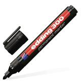 Маркер перманентный (нестираемый) EDDING 1,5-3мм, круглый наконечник, черный, E-300/1
