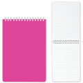 Блокнот А6, 110-145 мм, 80 л., «Хатбер», гребень, пластиковая обложка, «DIAMOND-розовый»