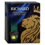 Чай RICHARD «King's Tea №1» («Ричард Кингс Ти»), черный, ароматизированный, 100 пакетиков по 2 г